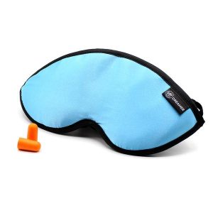 Luxury Blue Dreamer Sleep Mask with earplugs