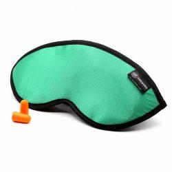 Luxury Green Dreamer Sleep Mask with earplugs