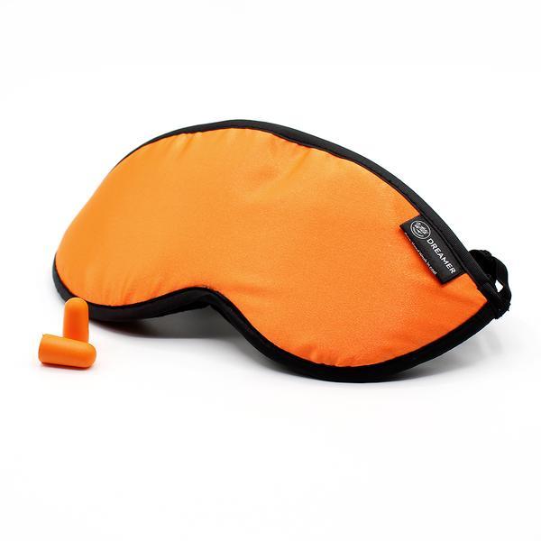 Luxury Orange Dreamer Sleep Mask with earplugs