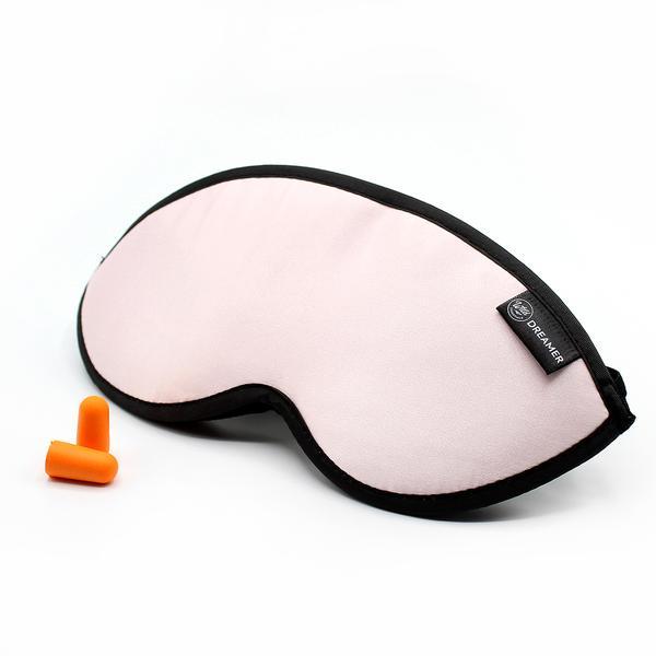 Luxury Pink Dreamer Sleep Mask with earplugs