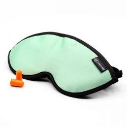 Luxury Mint Green Dreamer Sleep Mask with earplugs