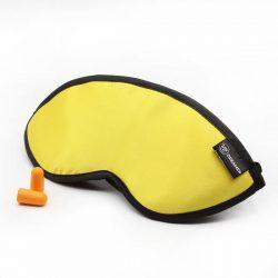 Luxury Yellow Dreamer Sleep Mask with earplugs