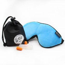 Luxury Aqua Escape Sleep with eye cutouts Mask with earplugs