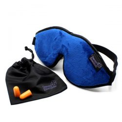 Luxury Blue Escape Sleep with eye cutouts Mask with earplugs