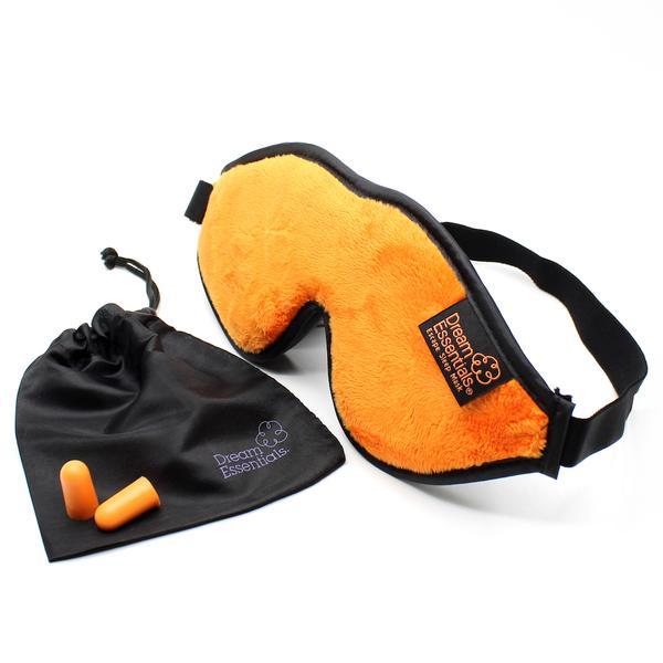 Luxury Orange Escape Sleep with eye cutouts Mask with earplugs