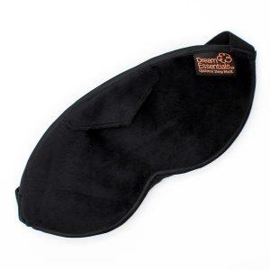 opulence plush sleep mask black front