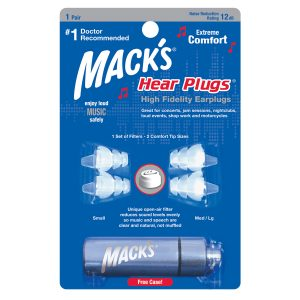 macks hi fidelity earplugs for music