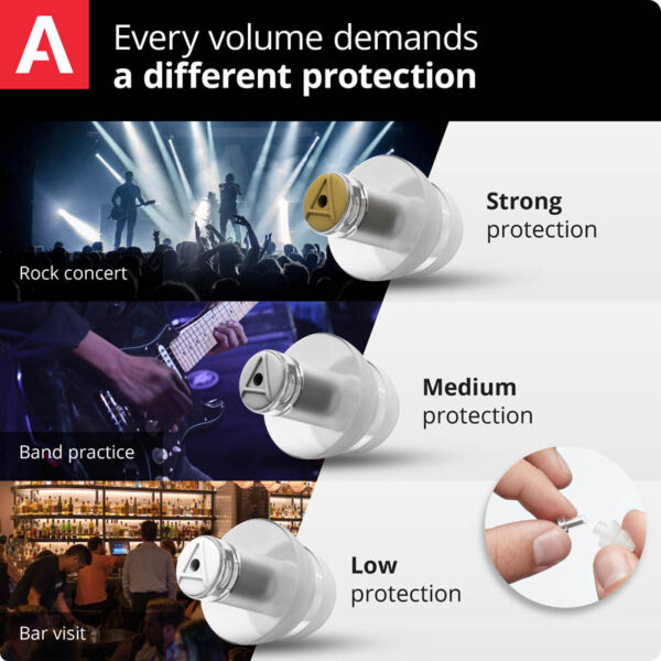 interchangeable filters for music earplugs