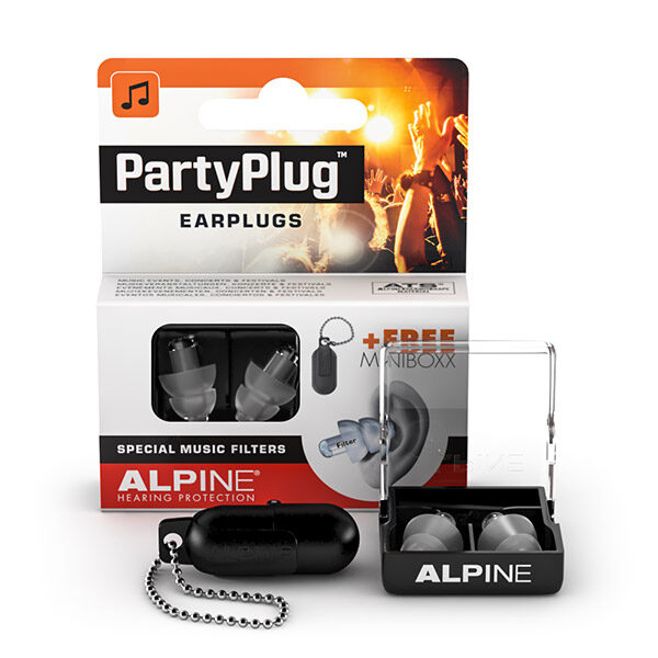 alpine party earplugs packaging