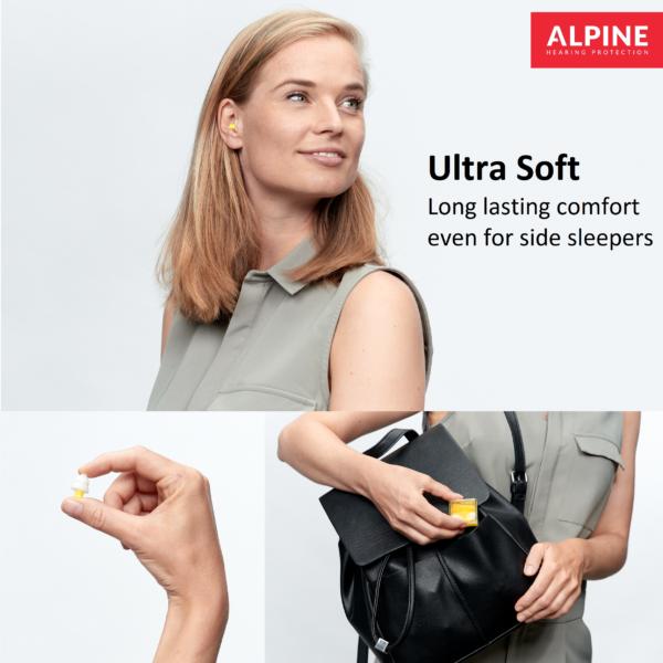 lady with alpine flyfit earplugs