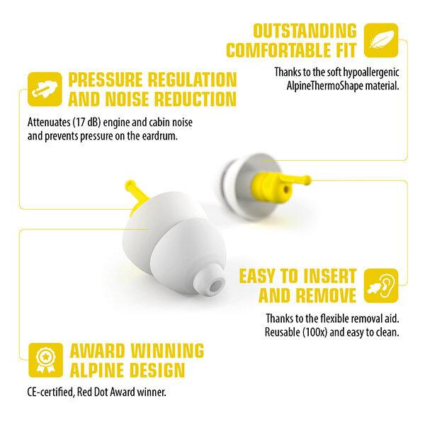 alpine flyfit earplugs details