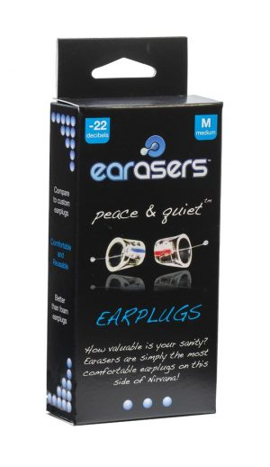 Earasers Filtered Earplugs for Noise Sleep and Sound