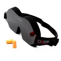 Total Eclipse Soft Foam Sleep Mask with earplugs