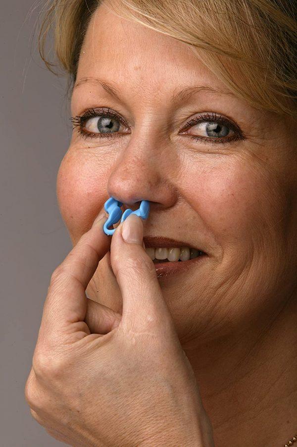 Lady Wearing Airmax Nasal Dilator Small