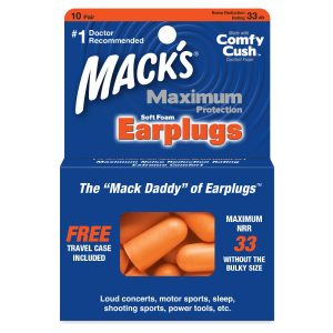 Maximum Protection Soft Foam Ear Plugs 10 Pair