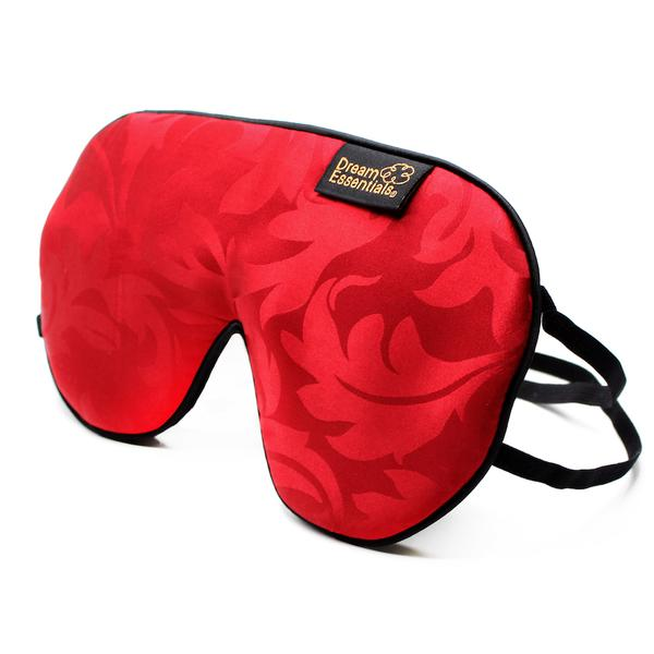 Silky Red Sleep Mask for Side Sleepers