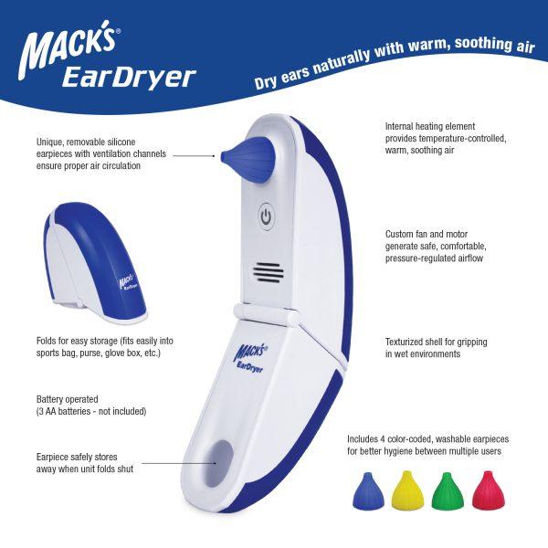 Macks Ear Dryer Sleep and Sound
