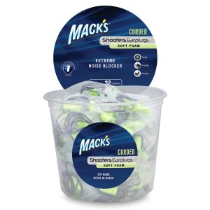 Macks Shooters Earplugs Green 100 Pair
