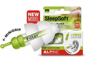 new mini grip for alpine sleepsoft earplugs