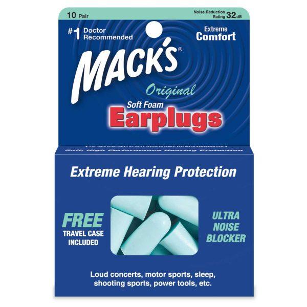 10 Pair Mack's Original Ear Plugs
