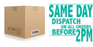 Same Day Dispatch On All Orders Before 2 PM