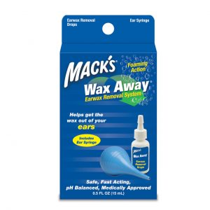 Mack's Wax Away Removes Earwax from Ears