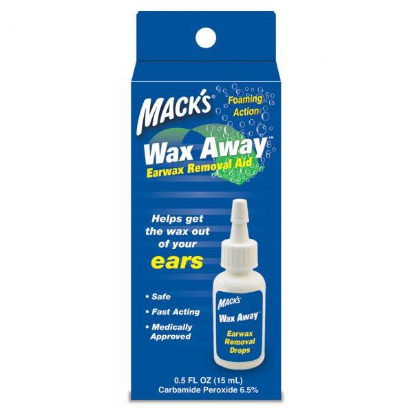 Packaging Mack's Wax Away Earwax Removal Drops