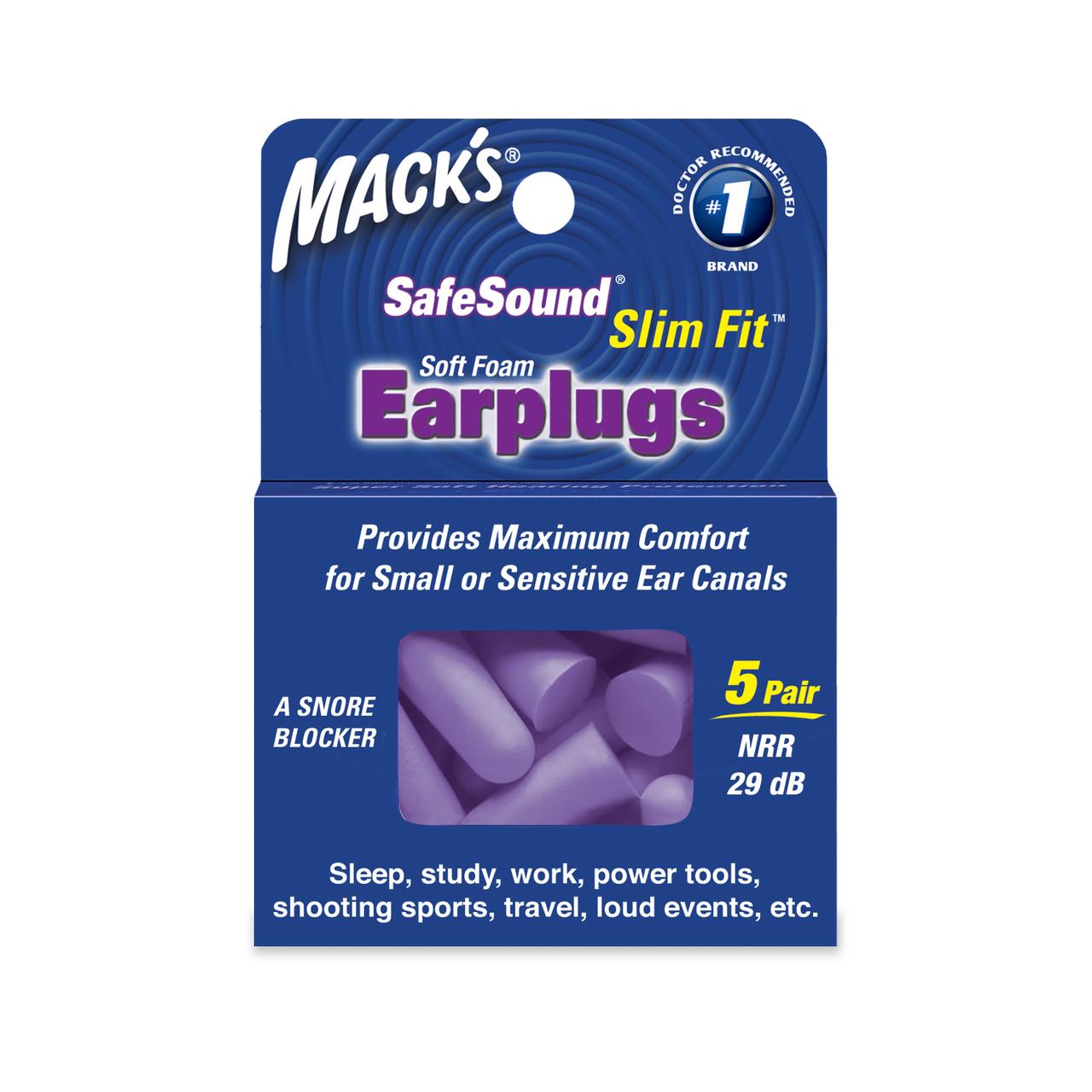 Mack's Slimfit 10 Pait Ear Plugs