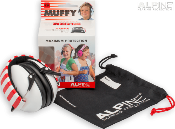 Alpine White Muffy - Kids Ear Muffs