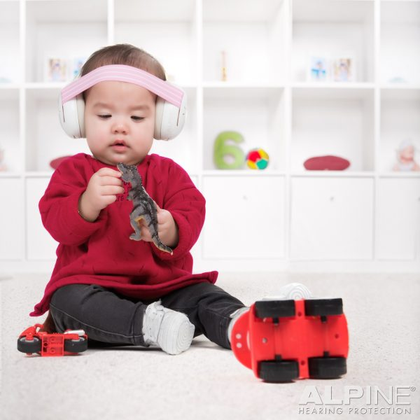 Baby wearing Alpine Muffy Baby Earmuffs