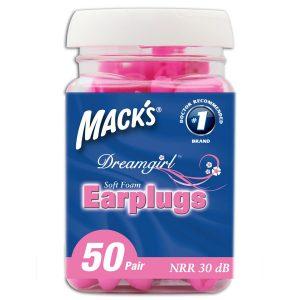 Mack's Dreamgirl Earplugs For Her - 50 Pair