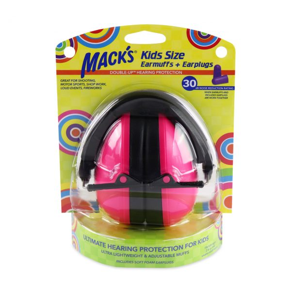 Macks Kids Size Earmuffs with Earplugs