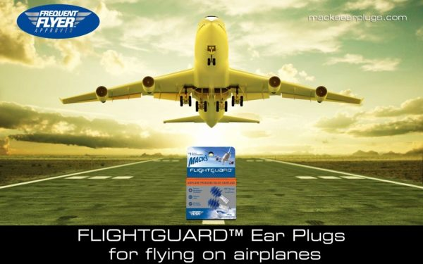 Macks Flightguard Pressure Relief Earplugs for Flying