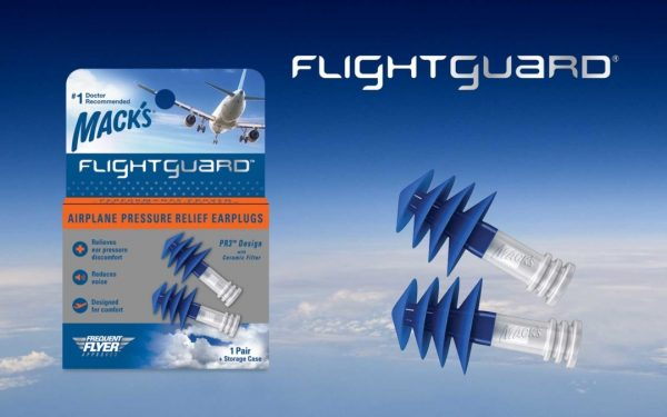Macks Flightguard Airplane Pressure Relief Earplugs for Flying