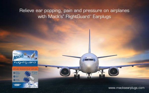 Macks Flightguard Airplane Pressure Relief Flying Earplugs