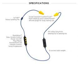 Bluetooth Headphones with Earplugs & Mic