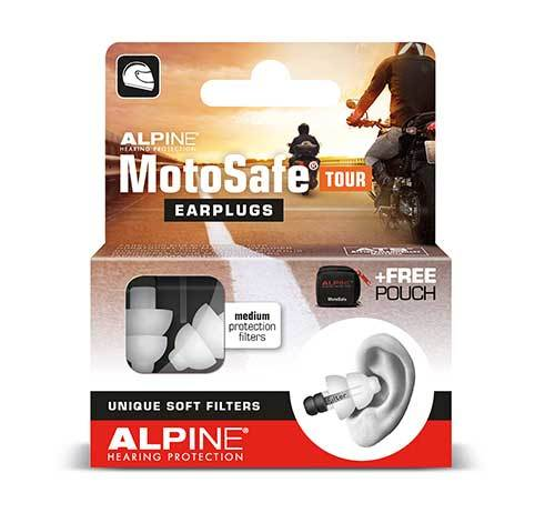 Packaging for Alpine Motosafe Earplugs for Touring (NEW)