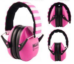 Pink Striped Alpine Muffy - Kids Ear Muffs