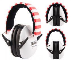 Red Striped Alpine Muffy - Kids Ear Muffs