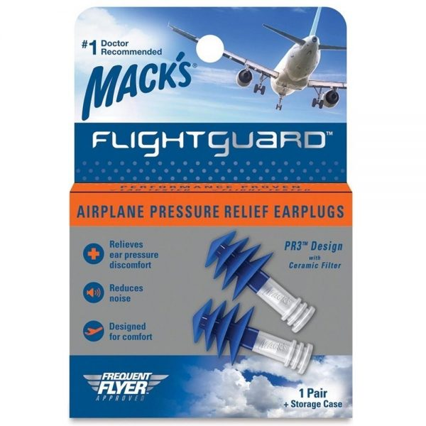 Flying Earplugs Macks Flightguard Airplane Pressure Relief Earplugs
