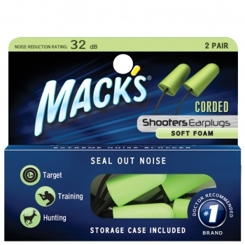 Mack's Shooters Corded Ear Plugs