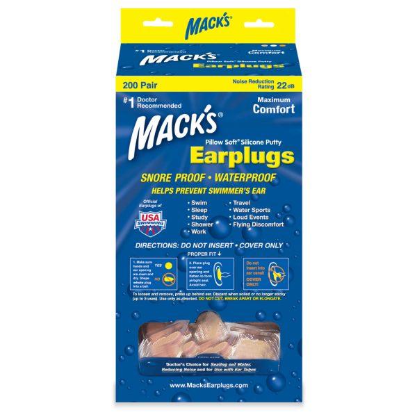 macks pillow soft earplugs for swimming in bulk