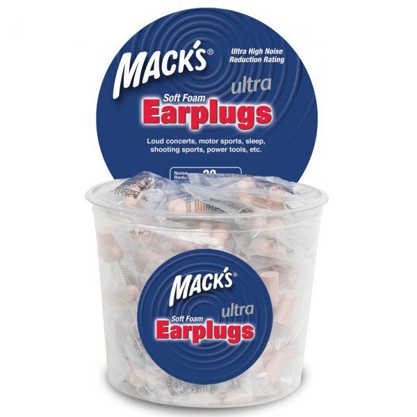 100 Pair Tub Macks Ultra Foam Earplugs