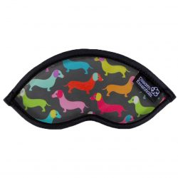 Dogs Childrens Travel Sleep Mask Hush Sausage Dogs