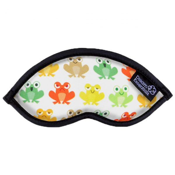 Coloured Frogs Childrens Travel Sleep Mask Hush Coloured Frogs