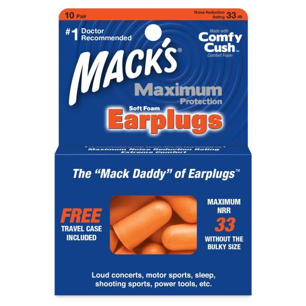 Mack's Maximum Protection 10 Pair Soft Foam Ear Plugs
