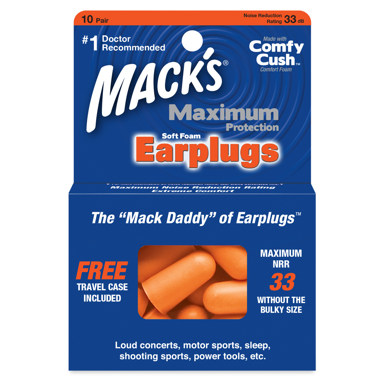 Mack's Maximum Protection Soft Foam Ear Plugs