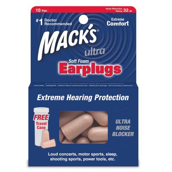 12 Pair of Mack's Ultra Soft Foam Earplugs