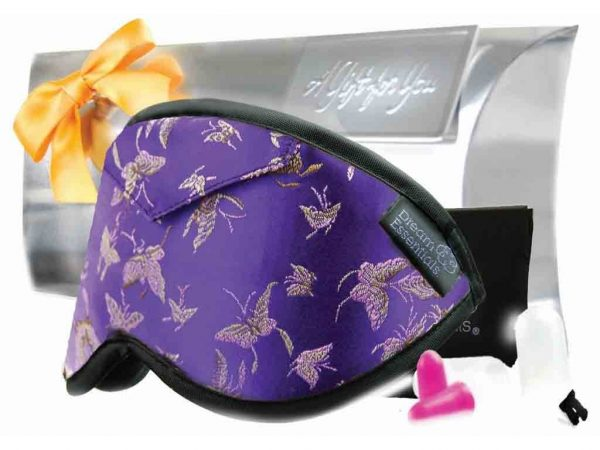 Purple Opulence Brocade Sleep Mask Gift Pack