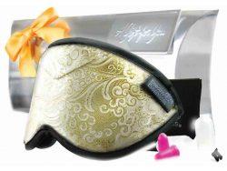 Gold Leaf Opulence Brocade Sleep Mask Gift Pack